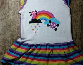 Rainbow emo flutter dress 18-24m