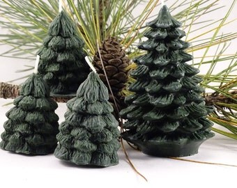 Pine Tree  Candle Nature Christmas Decor