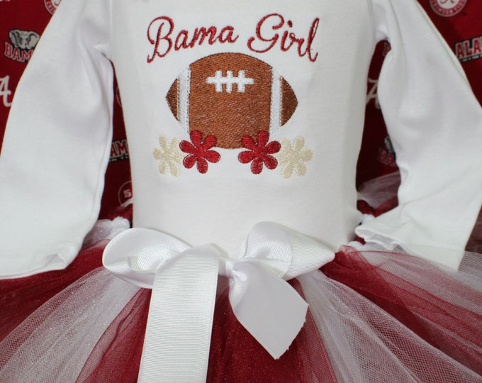 Bama girl outfit, Alabama baby girl outfit, Crimson and white tutu, Alabama football bodysuit, Alabama headband, Toddler girl Alabama outfit