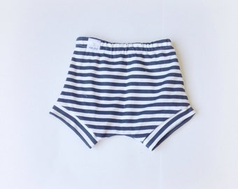 Black and white striped bloomers organic knit