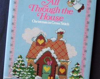 """OXMOOR HOUSE """"All Through the House"""" CHRISTMAS Cross Stitch Patterns Book"""