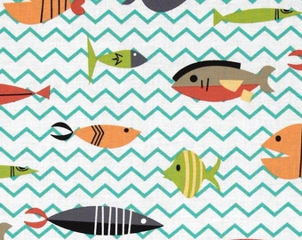 Michael Miller Something's Fishy - FBTY - FBHY - PC6298 Multi - Juvenile - Fish fabric