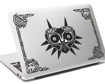LEGEND OF ZELDA decal Majora Mask Laptop decal Apple Macbook decal Hyrule kingdom decal Link decal Notebook decal Macbook Zelda sticker