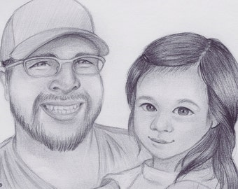 Custom pencil portrait- original art