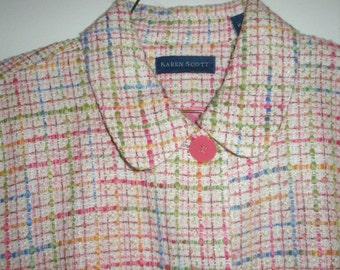 1970s Vintage Karen Scott Plaid Jacket