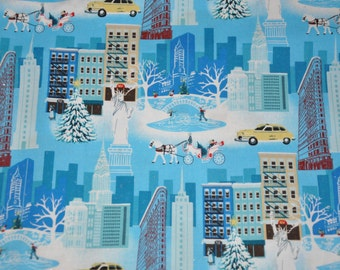 One Yard of Christmas in New York City 100% Cotton Quilt Fabric