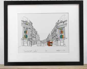 Regent Street London Limited edition Giclee Print
