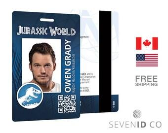 Jurassic World Replica ID Badge - Owen Grady/Chris Pratt