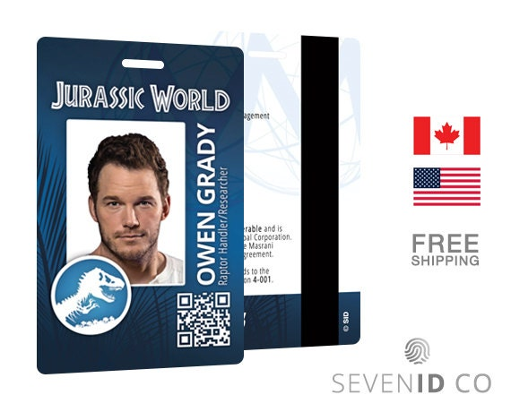 Jurassic World Replica ID Badge