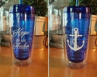 Two sided Hope as an Anchor Tumbler