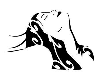 """5.8/8.3 """" A5 vintage woman stencil 2"""