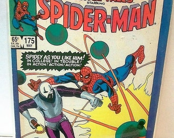 1985 Marvel Tales Starring Spider-Man #175 The Looter,  When Falls The Meteor Reprint ASM 36 VG-VF Condition Vintage Marvel Comic Book