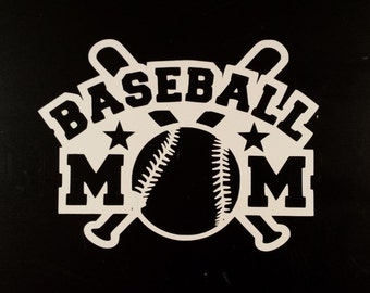 Baseball Mom Vinyl Decal, Baseball Decal, Window Decal, Car Decal, Laptop Decal, Phone Decal, Water Bottle Decal, Baseball Mom Sticker