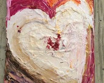 Vulnerable Heart Original Painting