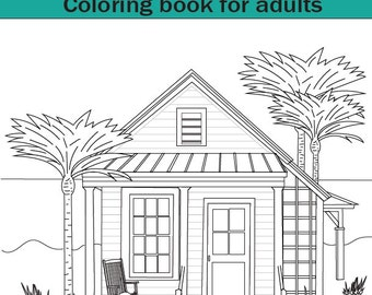 Adult Coloring Books Volume 2 Beach Cottages 20 Designs Colouring Book Fun And Relaxing