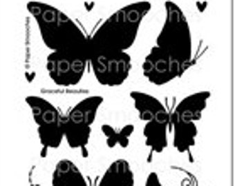 Paper Smooches - Stamp- Graceful Beauties