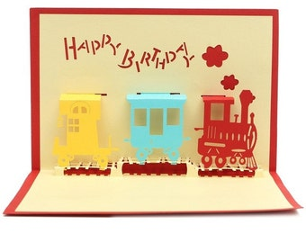 3D Handcrafted Happy Birthday  3D Pop Up Card