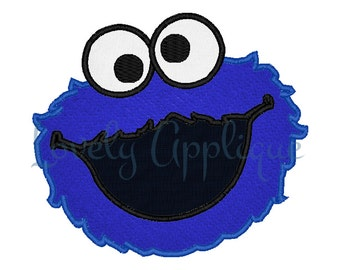 Cookie Monster Applique Design - Instant Download