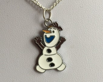 Olaf Inspired Pendant Necklace