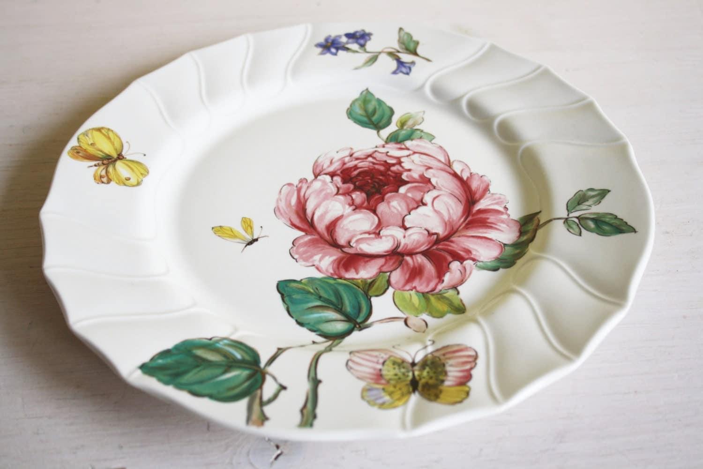 assiettes villeroy et boch bouquet ancienne marque roses. Black Bedroom Furniture Sets. Home Design Ideas