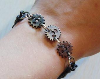 Grind my Gears Steampunk Bracelet