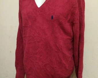 Vintage Polo RALPH LAUREN Small Pony Knit Sweater Jumper