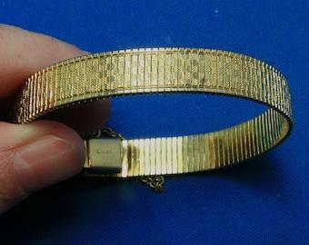 Vintage Napier Gold Statement Bracelet With Safety Chain