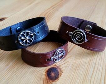 Leather Charm Bracelet