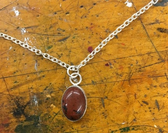 Obsidian Pendant Necklace