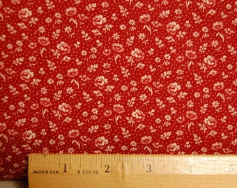 Calico Fabric Red Country Cottage