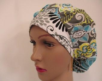 Bouffant-Medical/Surgical Scrub-Nurses Cap-Woman Hat-Tec Vet-100% Cotton.