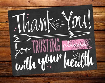Plexus Thank You Postcard (chalkboard style)
