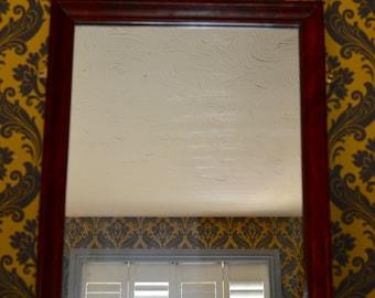 A Vintage Wooden Framed Mirror, shabby chic, Shabby chic, boho ,