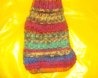 """4"""" Puppy, Kitten Guinea Pig Sweater, Hand knitted to fit any small pet, Help keep them warm this Fall or Winter"""