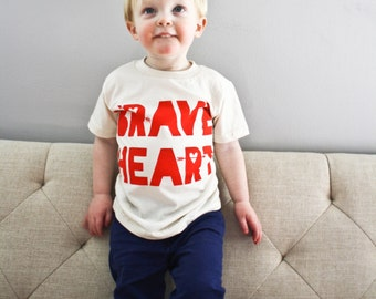 Brave Heart Shirt for Kids Valentine T-shirt for Kids Heart Shirt Valentines Day Print V-day T-shirt for Boys or Girls Heart and Arrows Love