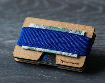 Slim wooden wallet, credit card holder, men's and women's wallet, wood minimalist and slim, modern design wallet, N wallet
