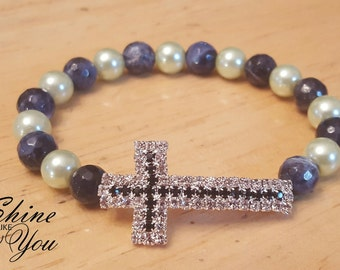 Cross Stretchy Bracelet
