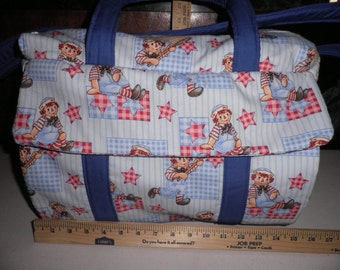 Diaper Bag & Changing Pad made with Raggy Andy Fabric