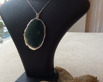 Dark Green Natural Stone Necklace