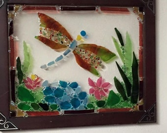 dragonfly stained glass Mosiac