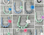 CHILD's flower necklace * multiple colors available * flower sensory necklace * princess necklace * baby shower new mom gift