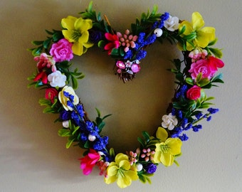 Spring Wreath, Summer Wreath, Heart Wreath,
