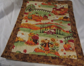 Quilted Wall Hanging, Fall Wall Hanging, Quilted Table Centerpiece, Quilted Table Topper, Quilted Fall Table Cloth