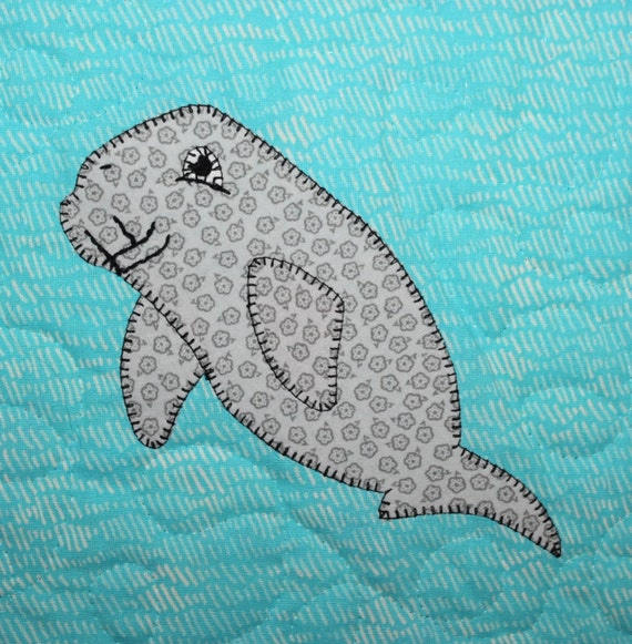 Dugong Or Manatee Pdf Applique Quilt Pattern Ocean Or