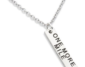 Running Jewelry,  Running Necklace, ONE MORE MILE