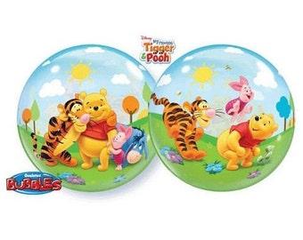 Disney Winnie the Pooh BUBBLE Plastic Birthday Balloons, Winnie the Pooh Party Supplies, Winnie the Pooh Balloons, Winnie Pooh Baby shower