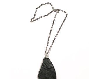 Black driftwood necklace