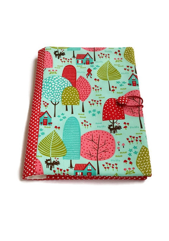 Fabric Book Covers Etsy : Fabric book cover journal traveler