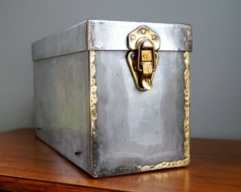 Antique Forged Strong Box