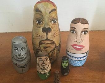 Wizard of Oz Nesting Dolls - Wood Toys - Nesting Dolls - Unique Gift - Oz Toys